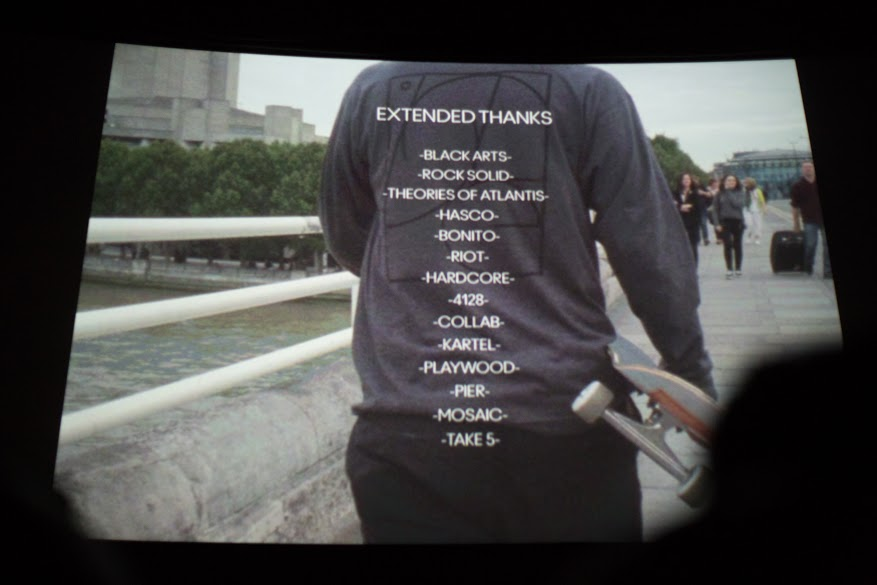 Extended thanks brought to you via Casper's shirt's backprint.